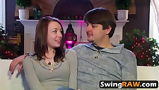 Awesome hardcore with two horny swingers in reality show
