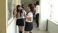 Cute Japanese Schoolgirl Exhibitionist Yui Saotome Caught Naked & Punished