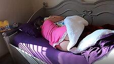 stepBrother weckt Schwester mit Accidental Creampie