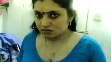 Cute and chubby Indian wifey teased on the bed in front of cam