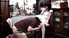 Lovely Asian schoolgirl gets her honey hole toyed and fucked