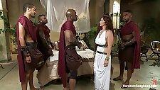 Princess Ganged Banged By Black Gladiators