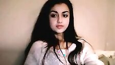 Beautiful Arab teen in pink panties