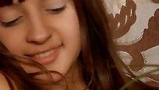 Losing virginity of pretty brunette teen spread slit and finger fucking