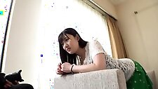 Stacked Japanese mom works her tight hairy pussy on a cock