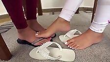 Lesbian footworship brazil