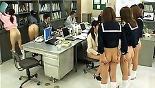 Naughty Japanese schoolgirls put their bodies on display