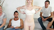 MyVeryFirstTime New uncensored version Maddy Rose first gang bang