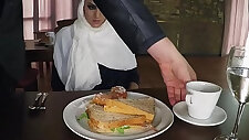 ARABSEXPOSED Hungry Woman Gets Food and Fuck