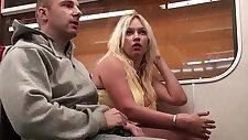 Big tits model Stella Fox public sex gang bang orgy