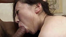 Asian slut tied up and gets face fucked hard
