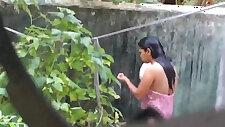 Desi friends sister bath spy from kitchen